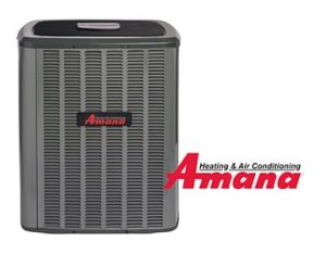 An Amana outdoor AC unit