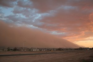 Dust storm in the Phoenix area