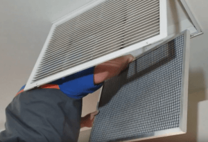 Changing HVAC filters after a dust storm in Phoenix