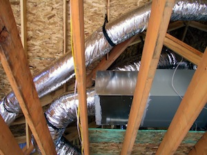 Home Air Ducts in Attic