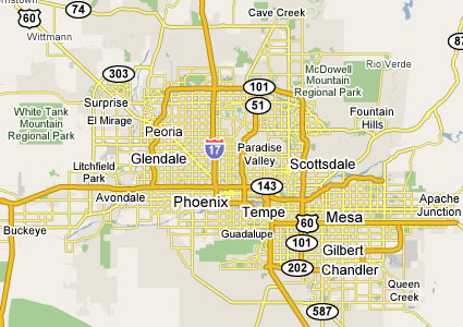 Phoenix Air Conditioning Service Area